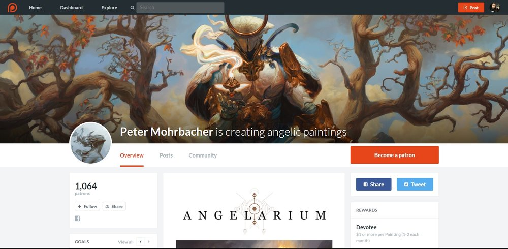 Peter Mohrbacher con sus series de angeles.