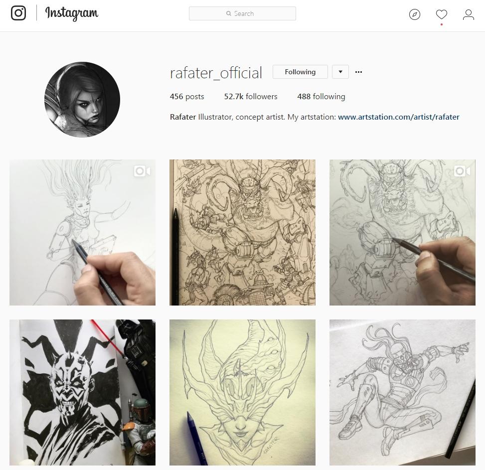 y  Rafater  subiendo uno y a veces dos posts al dia a instagram.