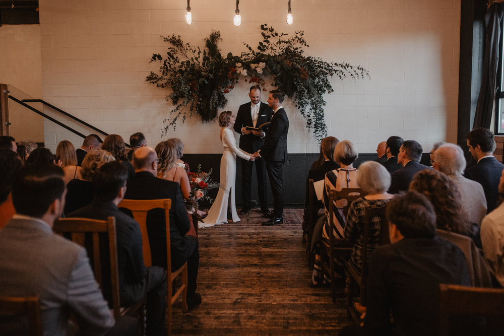 A wedding ceremony at Union/Pine