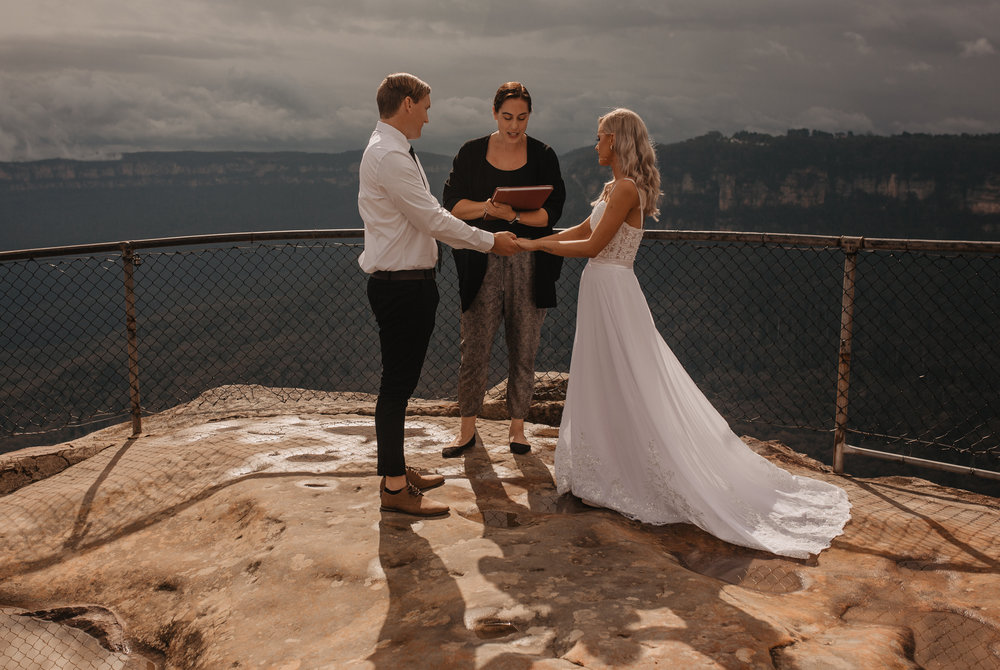 Australia Blue Mountain elopement ceremony