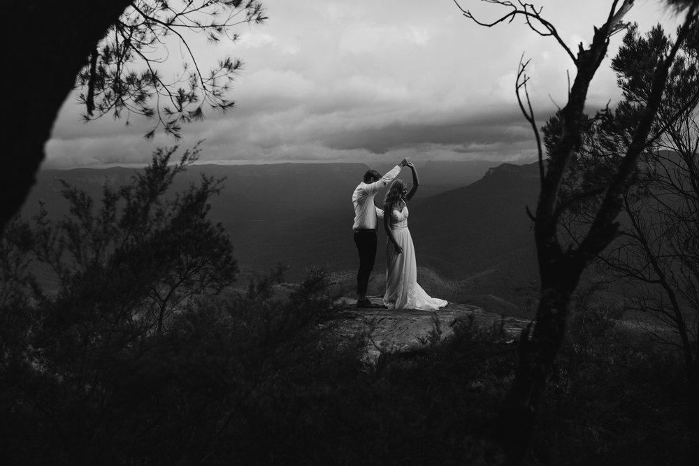 Blue Mountains Australia elopement