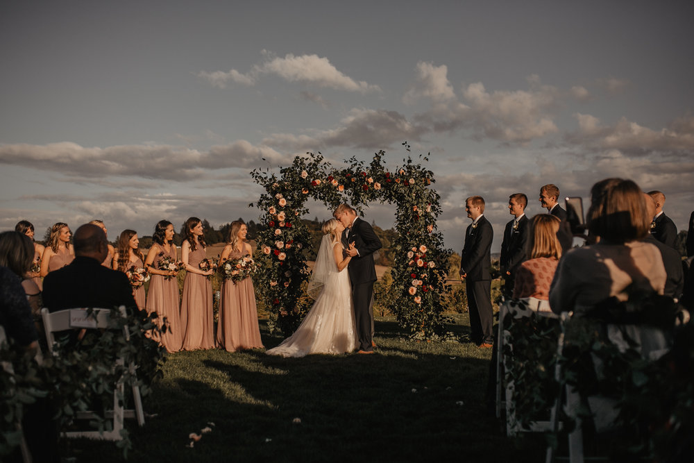 Zenith Vineyard Outdoor wedding ceremony