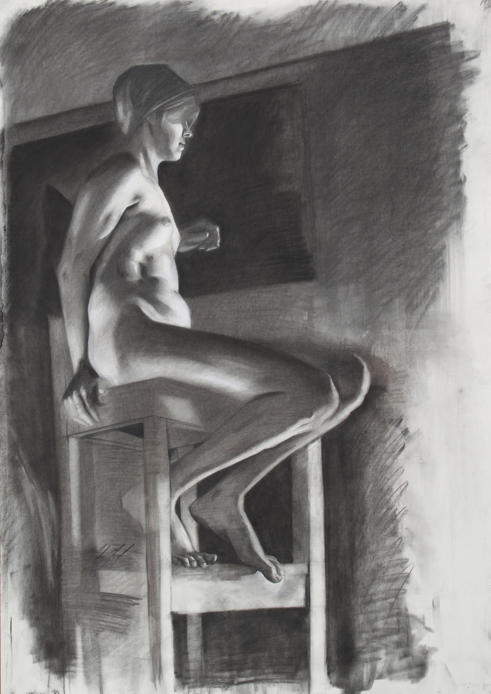 Kristi, 2013, charcoal on paper, 40 x 28 inches