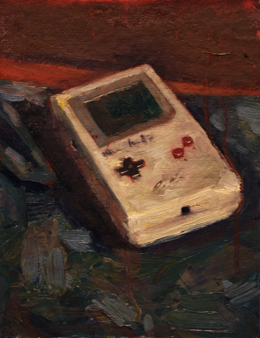 Nintendos and Don'ts, 2014, oil on canvas, 9 x 6 inches