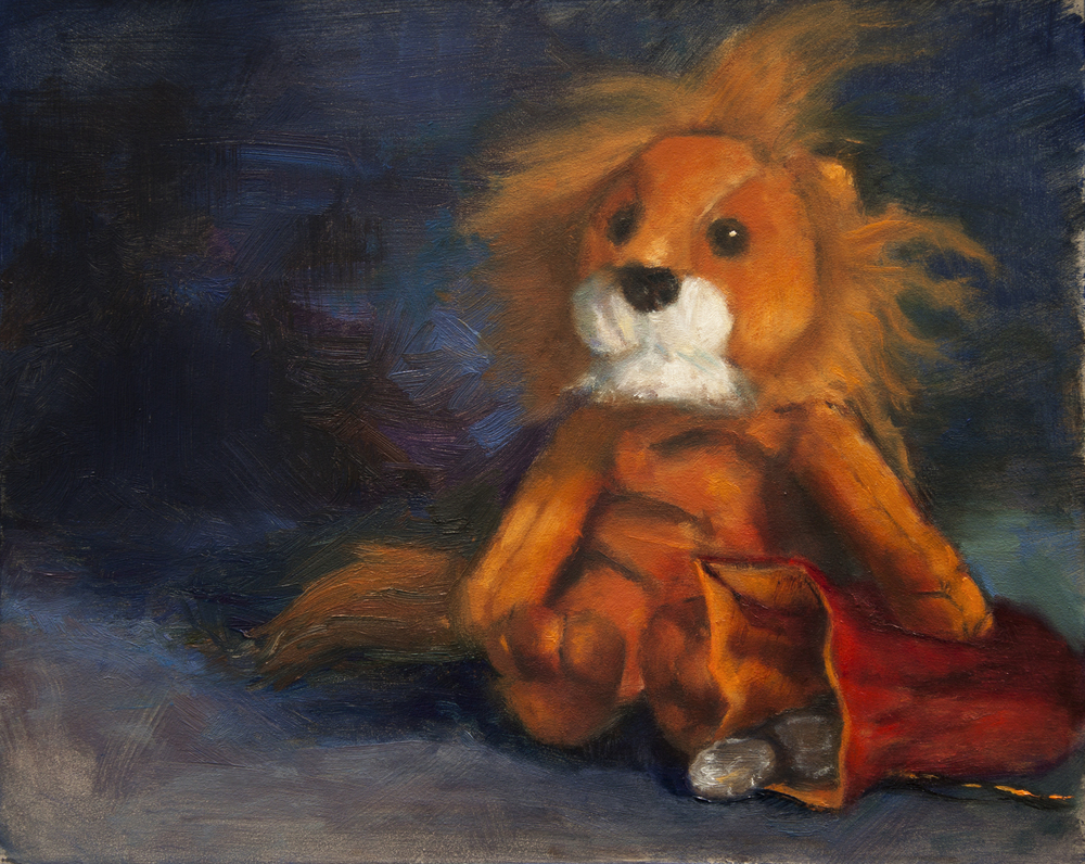 Mr. Lion, 2015, oil on panel, 8 x 10 inches