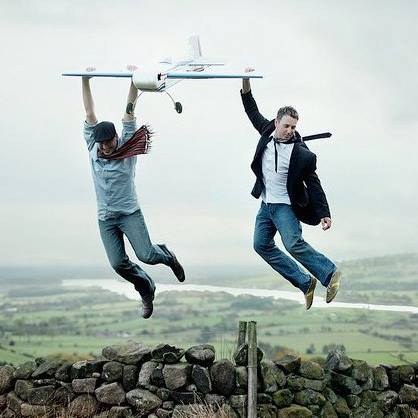 """The Canadians Have Landed"" by Rosie Hardy.  Love this pic of myself (left) and Clint in Highlands, near Buxton."