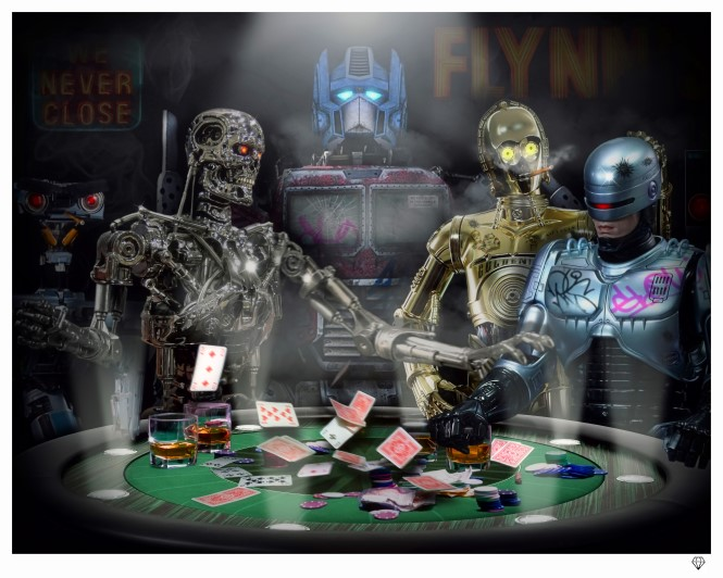 Androids playing Poker 24x30.jpg