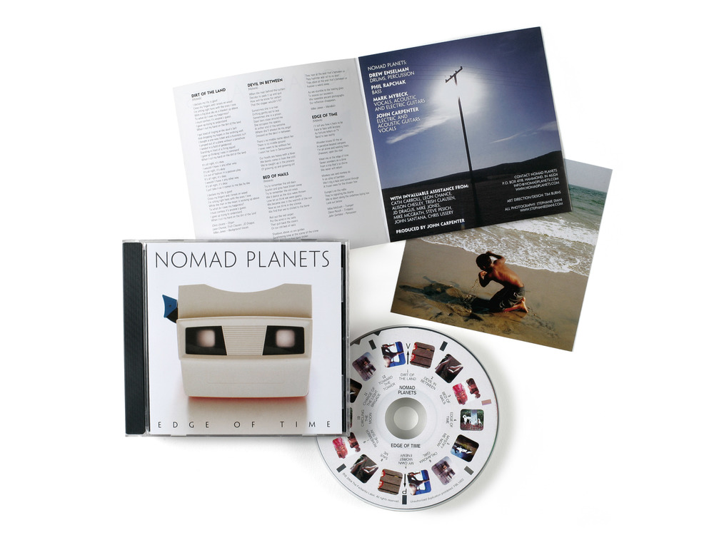 CD Packaging for Nomad Planet's Edge of Time