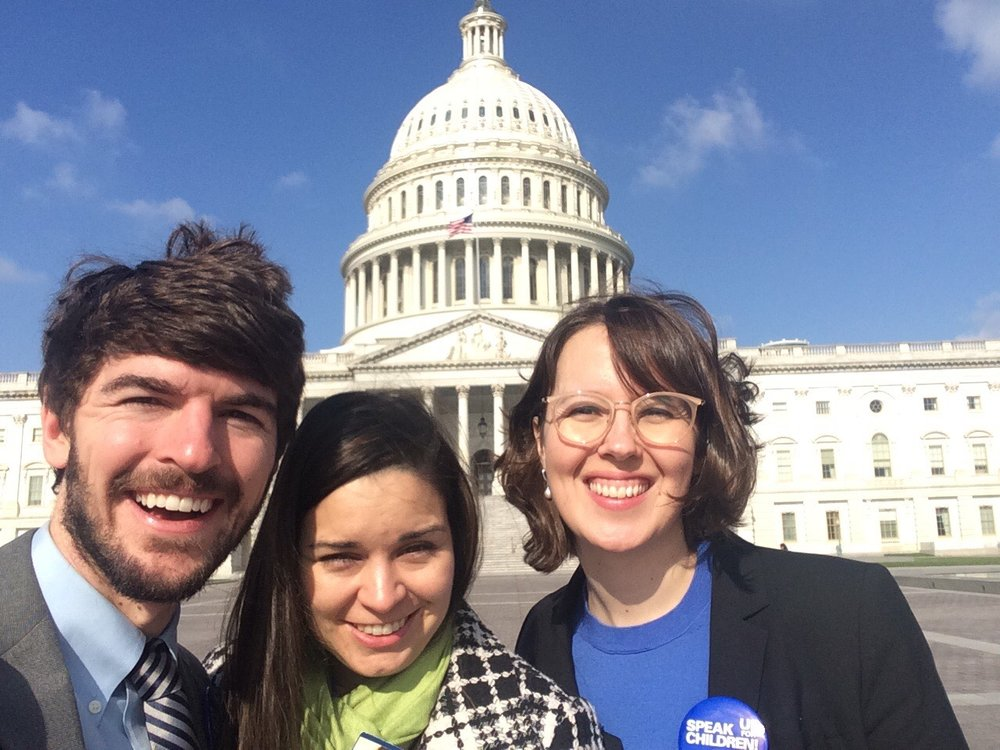From left: Beau Gilmore, MD; Allison Empey, MD; and Alanna Braun, MD at 2018 AAP Legislative Conference