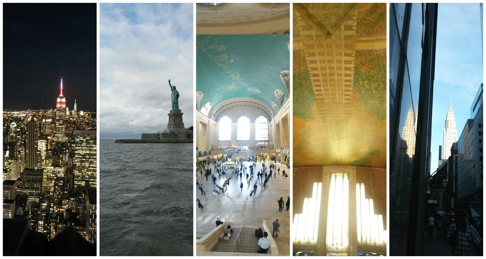 Empire state, Lady Liberty, grand central, Chrysler building interior and view of.
