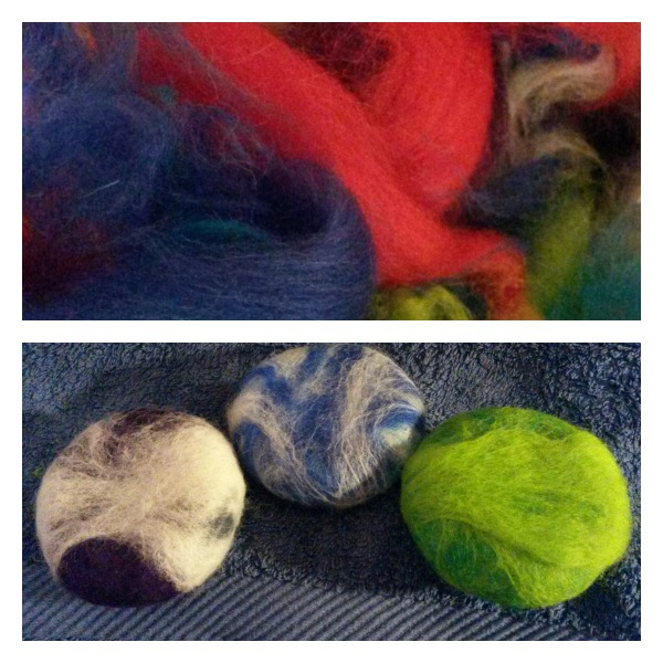 Learn  how to make Felted Soap  and  How to make felted balls