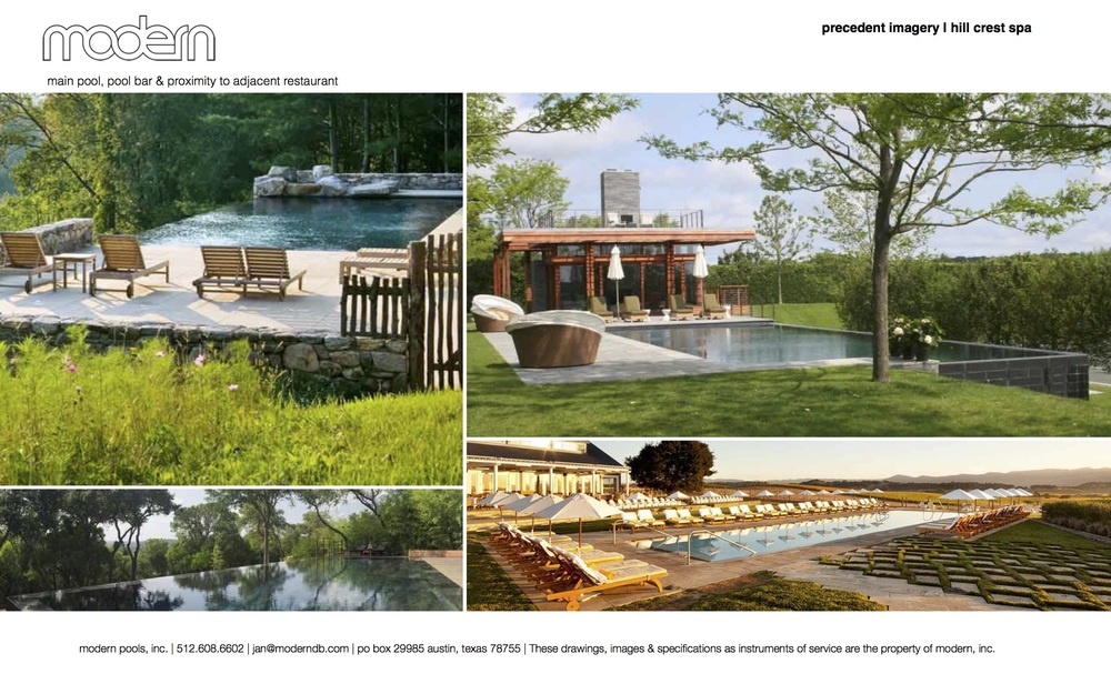 PRECEDENT IMAGES FOR HILL CREST