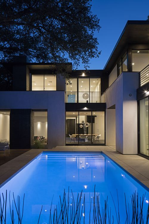 House & swimming pool construction by modern design+build, design by Brian  Dillard. Landscape design in collaboration with Mark Word, and installation  by ...