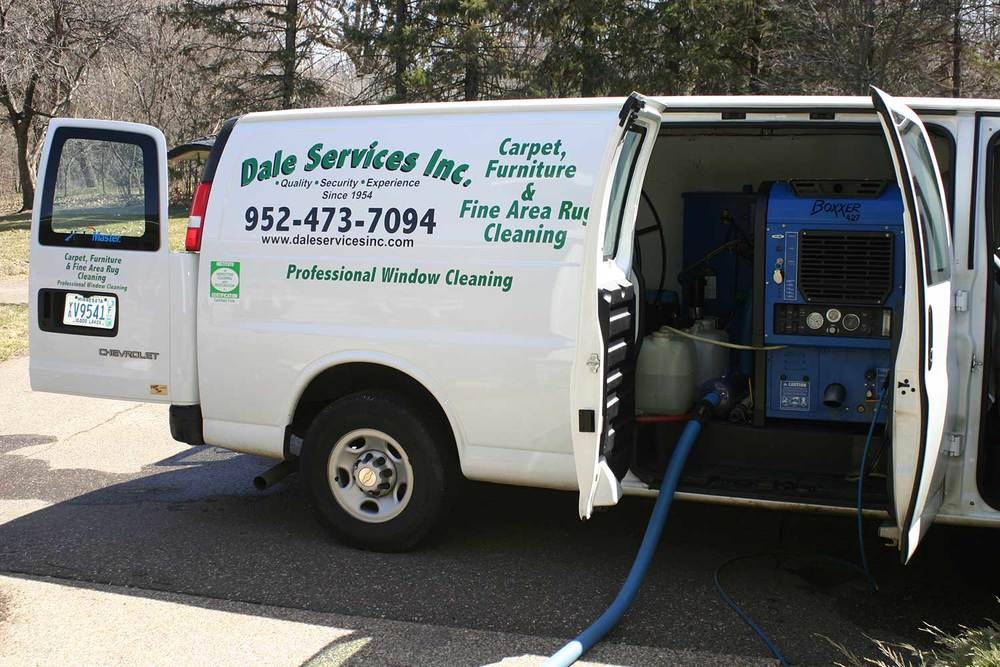 At Dale Services we use state of the art Hydra Master truck mounted cleaning equipment. The  truck uses its own water supply and waste water holding tank.