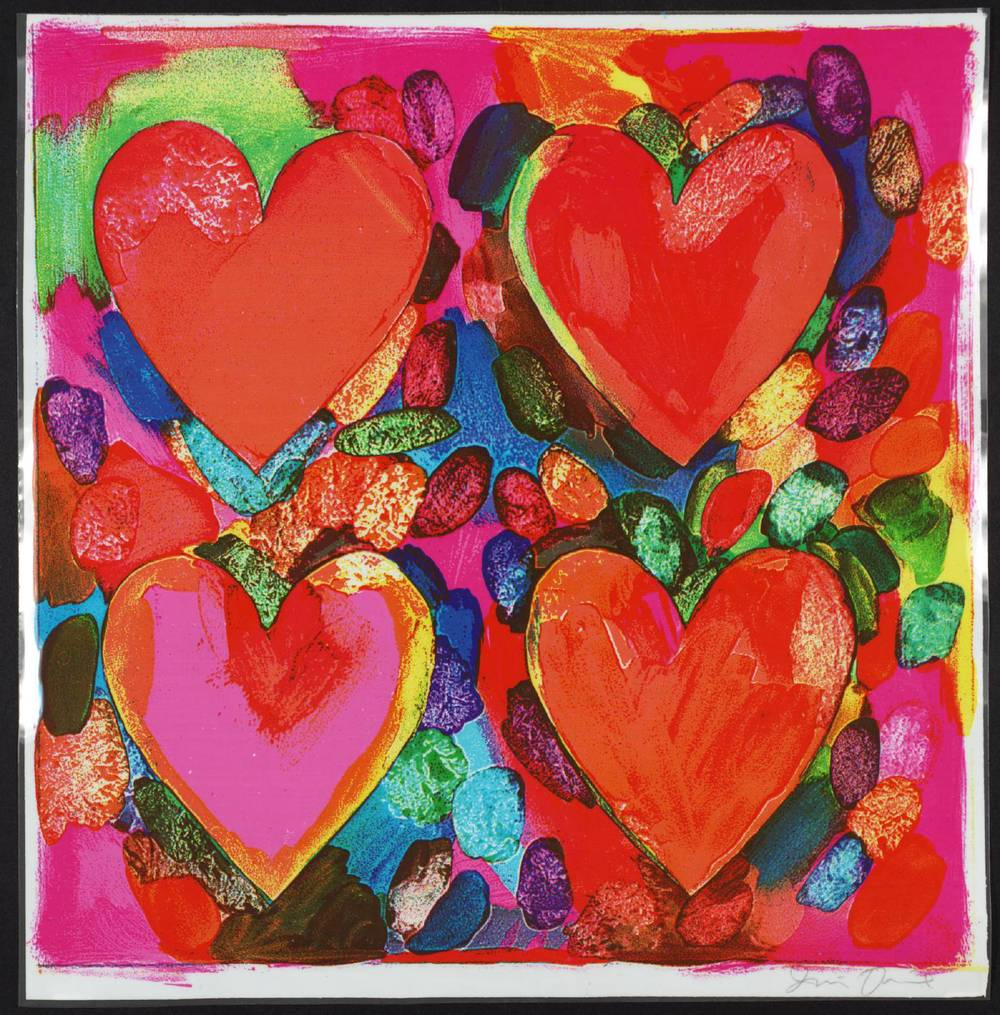 Four Hearts , Jim Dine 1969