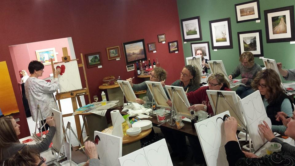 Art Classes   We have more art classes planned! Stay tuned for announcement of dates and times. Anyone wanting to learn to water color? Have you dreamt of painting a favorite pet? Has an old barn inspired you to take to canvas? Make a mosaic??  Jewelry making?? So many ideas... let us know what you want for a class!