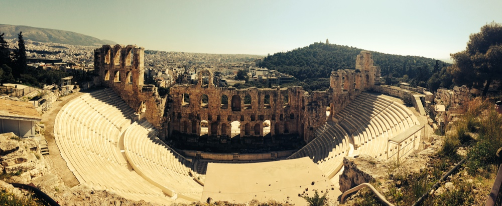 View of an Amphitheater from the Acropolis - taken on iPhone 5
