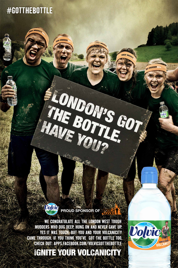 Volvic | Tough Mudder Print Ad, May 2014