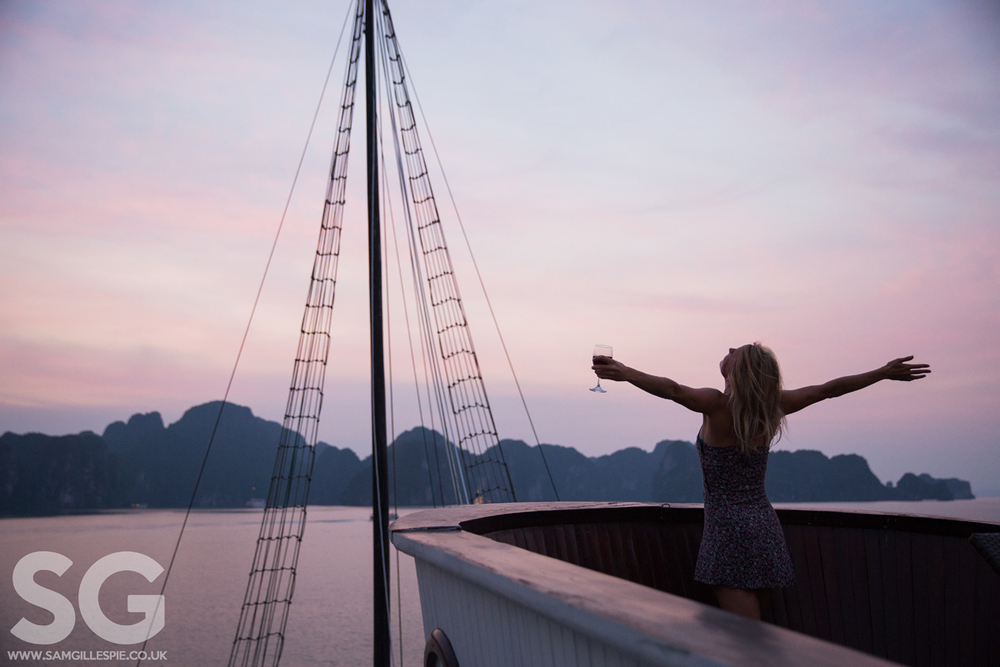 Halong Bay Sunset, Vietnam, September 2014
