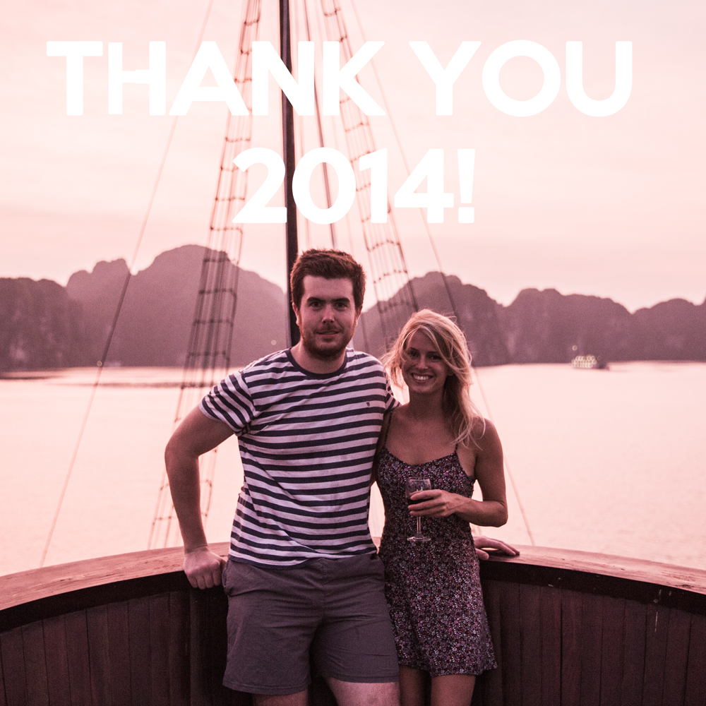 My girlfriend, Sarah, and I at Halong Bay Vietnam, September 2014
