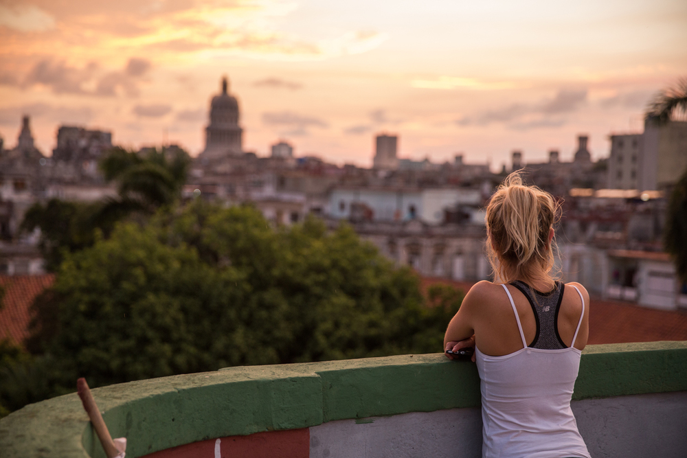 "Havana skyline from the rooftop of our ""casa particular"". Havana, Cuba, August 2015."