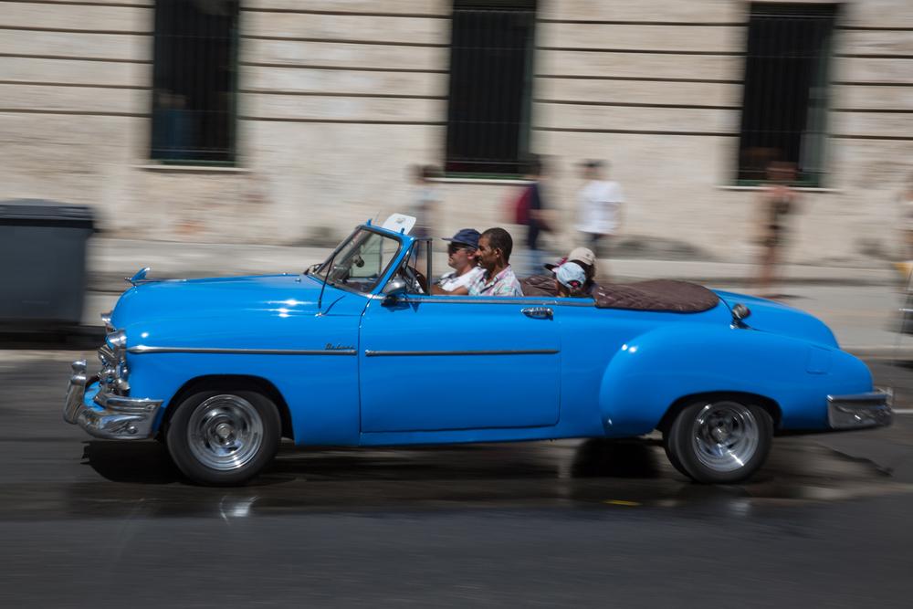 Vintage 1950s American Car. Havana, Cuba, August 2015.
