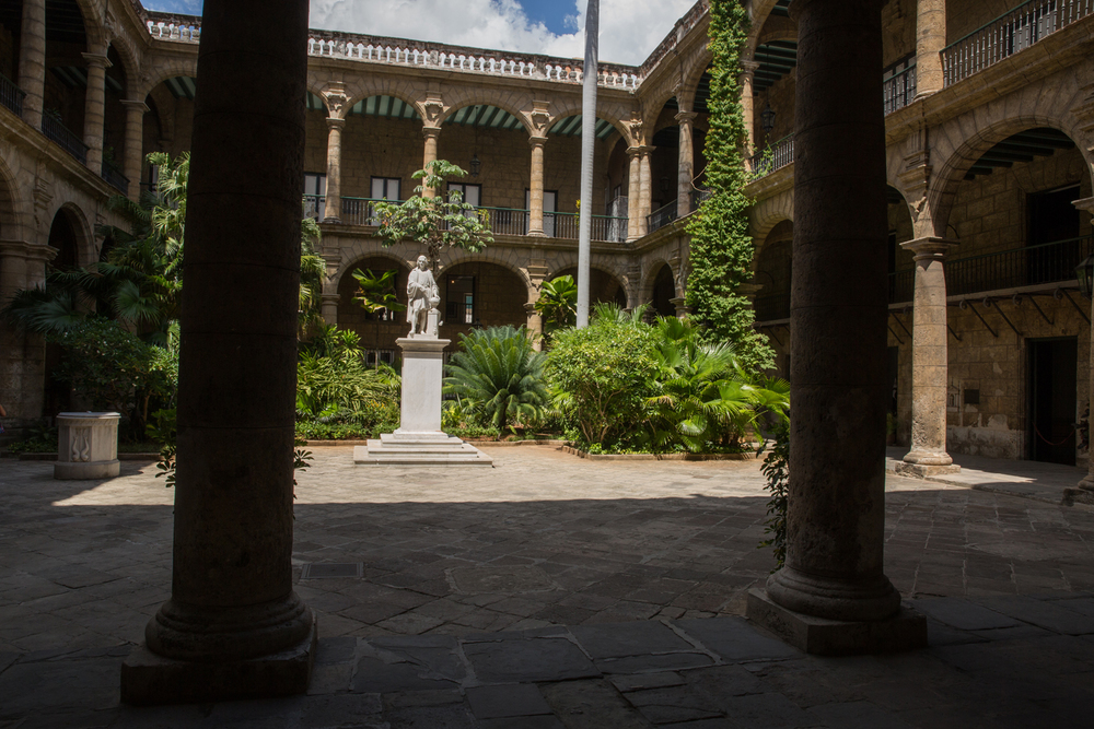 Spanish Colonial Courtyard. Havana, Cuba, August 2015.