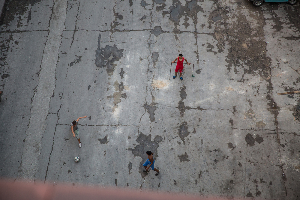 Street football. Havana, Cuba, August 2015.
