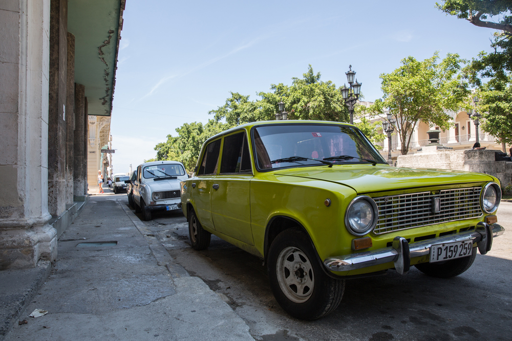 Soviet-made Lada car. Havana, Cuba, August 2015.