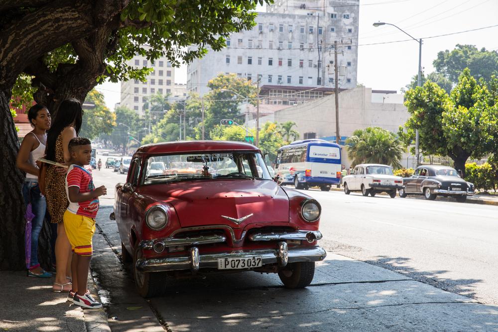 Cuban street scene.Havana, Cuba, August 2015.