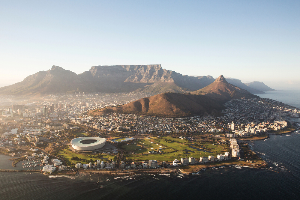 Cape Town Sunrise Aerial
