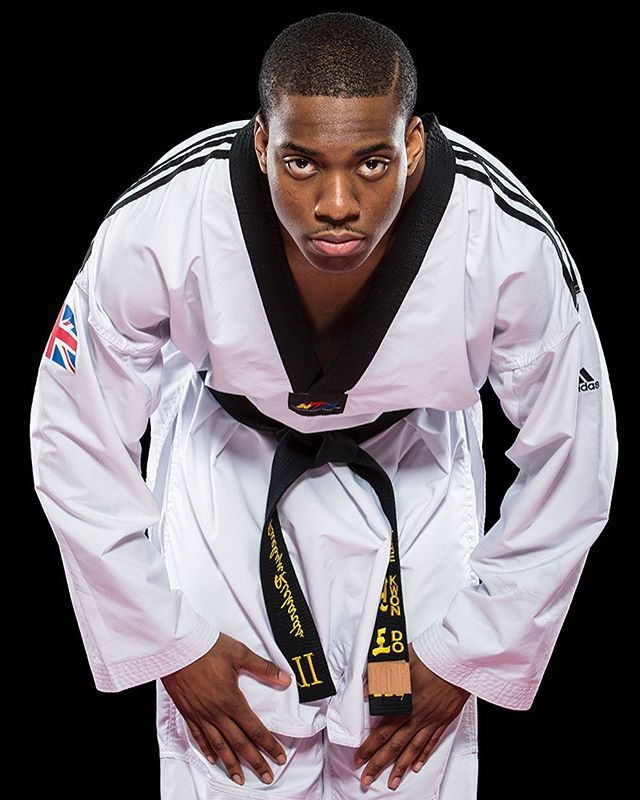 Good luck to Olympic Bronze Medalist (London 2012) @lutalomuhammad who battles it out in the Taekwondo 80kg quarter finals today in Rio for Team GB! Here is a portrait from last year at the National Taekwondo Centre in Manchester #Taekwondo #lutalomuhammad @teamgb #teambg #tkd #rio2016 #olympics2016 #rioolympics2016 #rio #martialarts