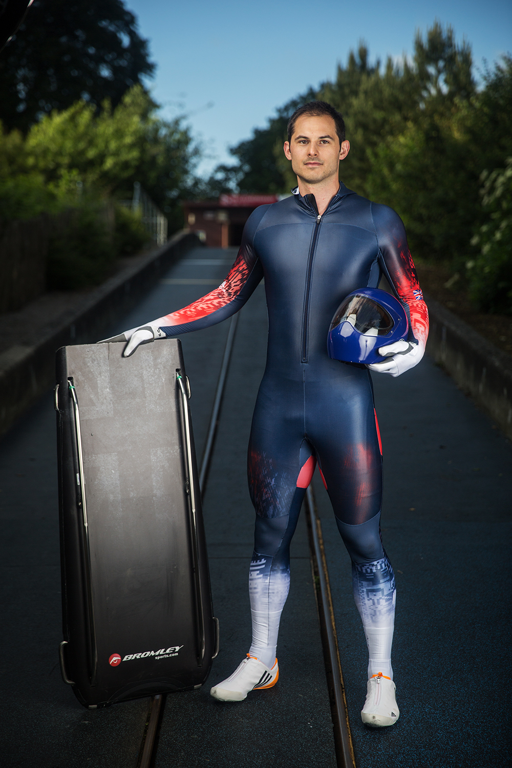 Dom Parsons, with his Bromley Sports Skeleton Sled