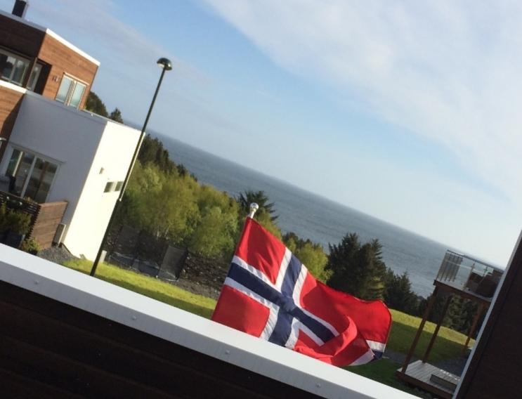 Flagget er kommet på plass, presist kl 08.00;) Viktig, viktig (a)