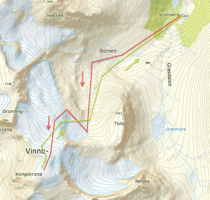 Kongskrona, 1818 moh