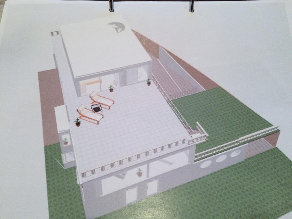 Dette er hva vi tegnet i vårt eget tegneprogram og gikk videre til arkitekten med.