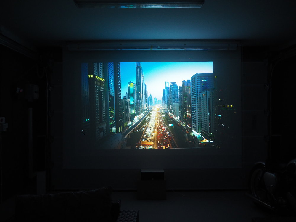 Kino i garasjen