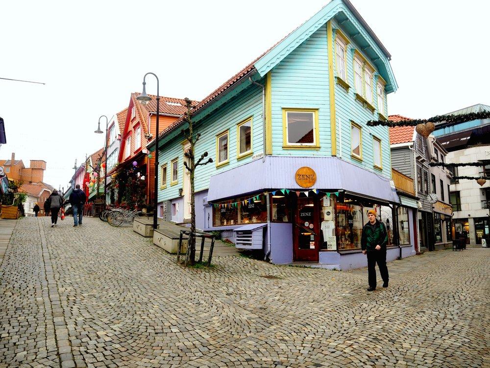 Stavanger by, fargegaten, del av gamlebyen