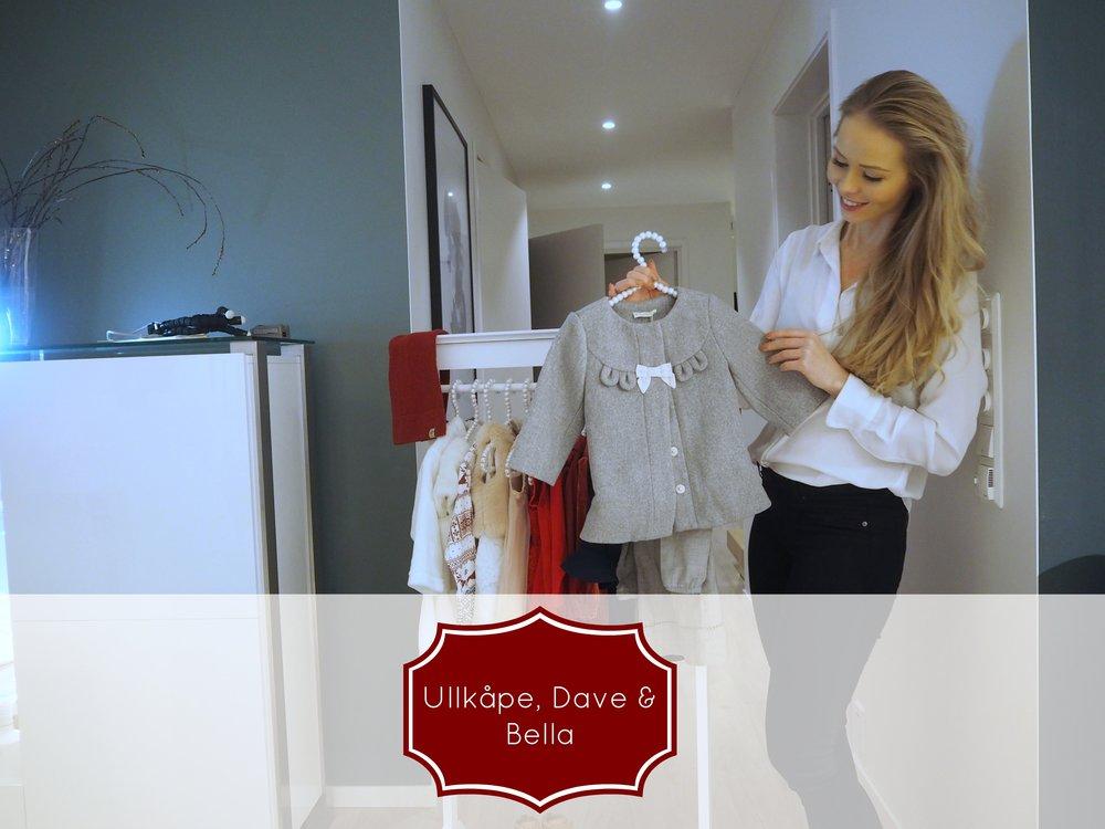 a babygirls outfit for christmas / en pikes julegarderobe. Ullkåpe fra Dave & Bella