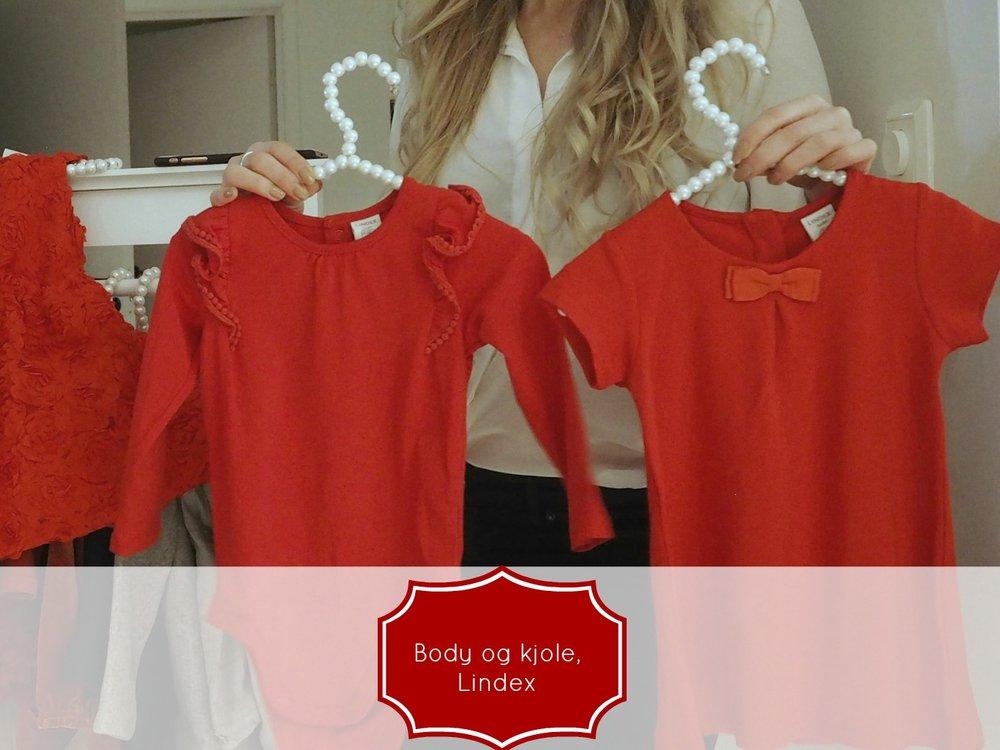 a babygirls outfit for christmas / en pikes julegarderobe. Body og kjole fra Lindex