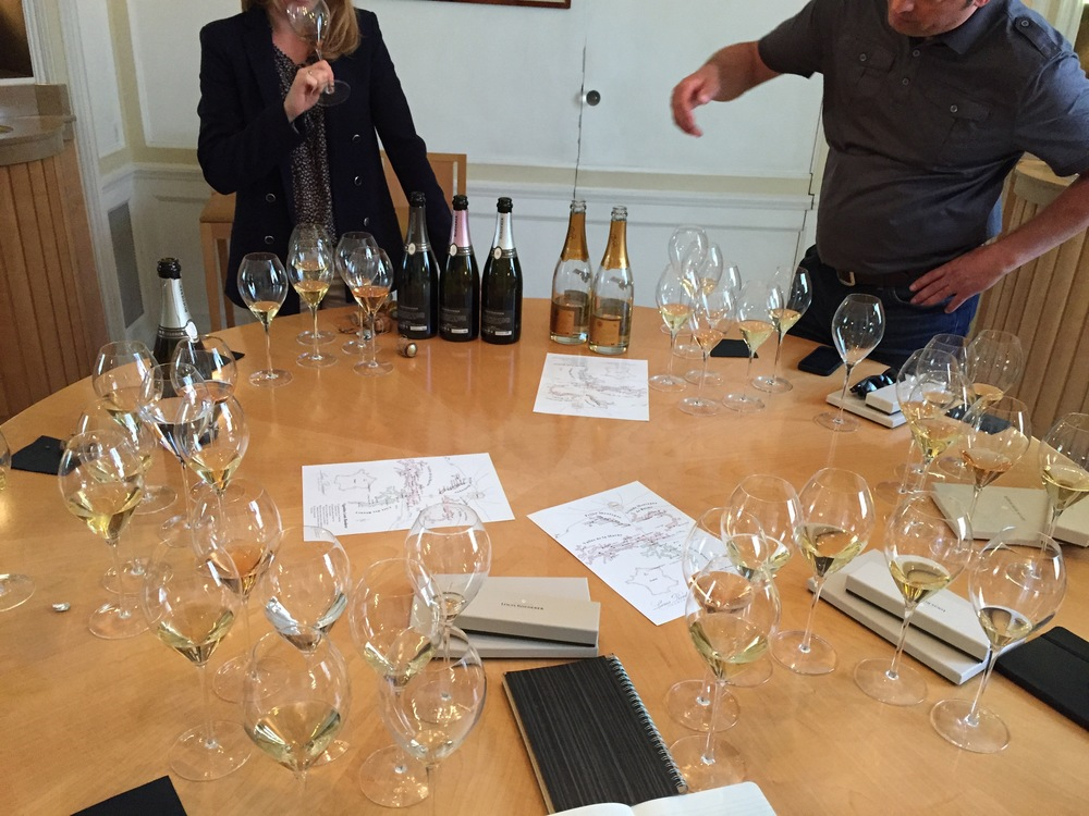 Tasting at Louis Roederer including 02 and 06 Cristal with Jean-Baptiste Lécaillon