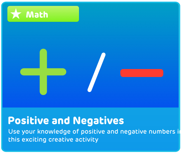 Positive and Negative Numbers Activity