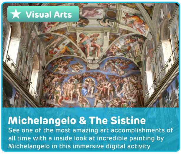 Michelangelo & Sistine Chapel Digital Activity