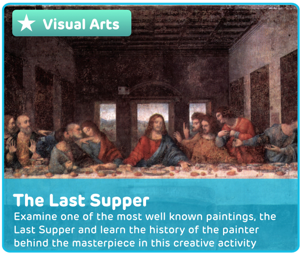 The Last Supper Painting Digital Activity