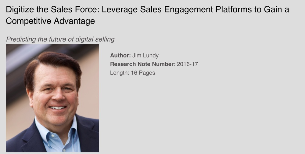 Digitize the Sales Force: Leverage Sales Engagement Platforms to Gain a Competitive Advantage