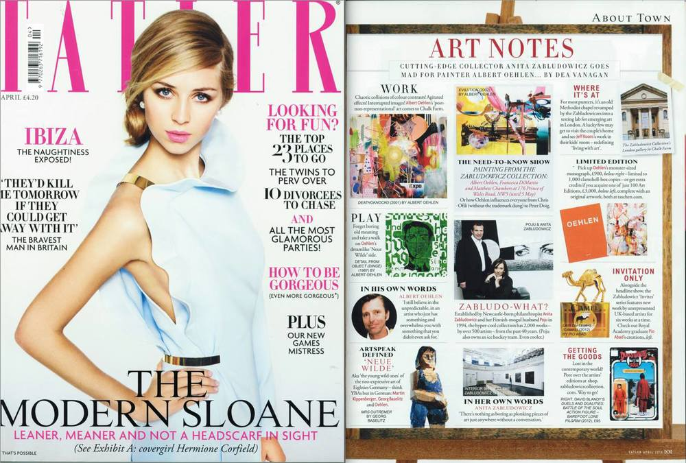 TATLER MAGAZINE, Art Notes: Writer