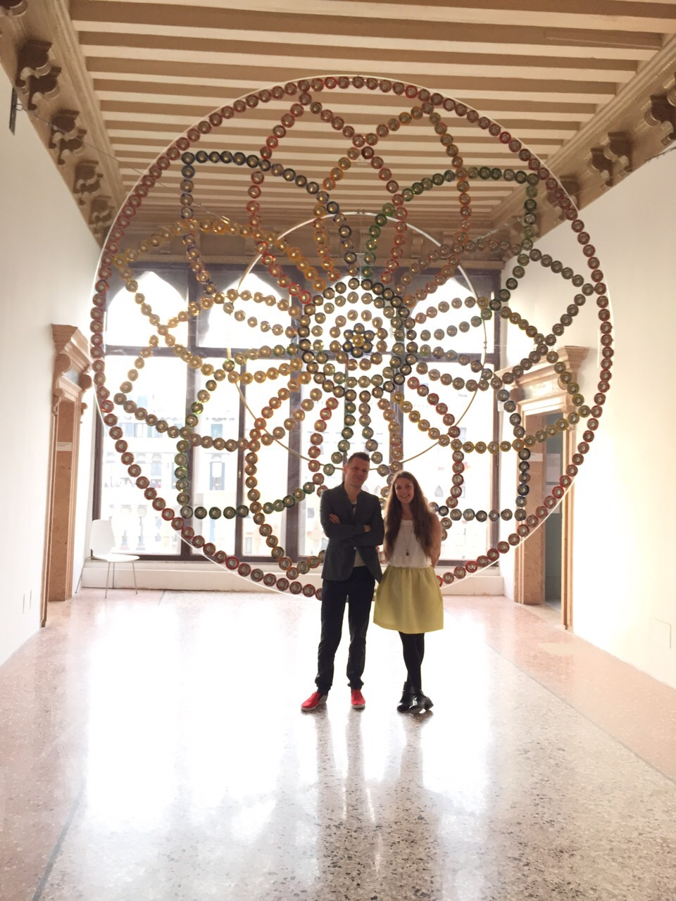 Mircea Cantor & Dea Vanagan, with Mircea's work, Rosace in Venice