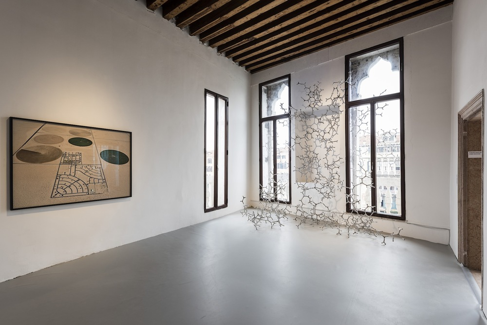 Installation view: Edward Burtynsky and Loris Cecchini. Courtesy Flowers Gallery / the artist and Galleria Continua San Gimignano/Beijing/Les Moulins. Photo by Ugo Carmeni