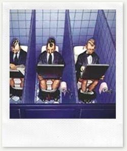 Workaholic toilet