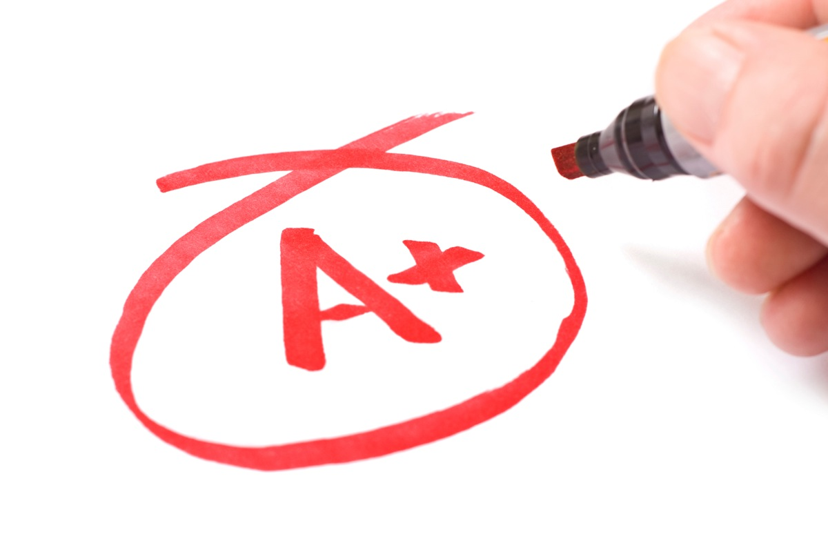 A School Success Excellence grade
